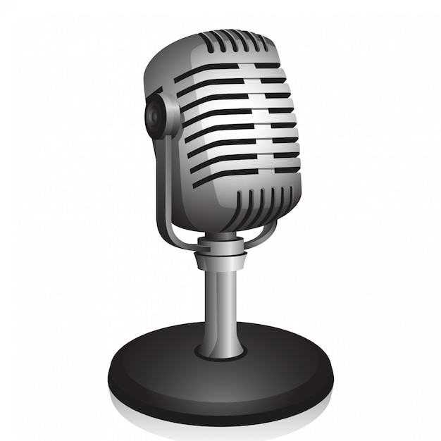 Microfono retrò Vettore Premium