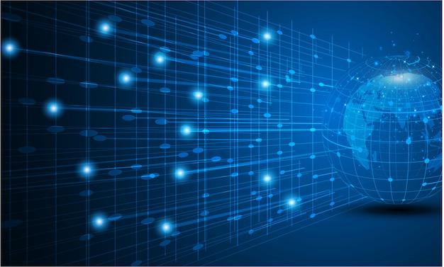 Miglior concetto di internet del business globale da una serie di concetti. Vettore Premium