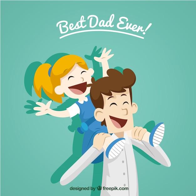 Miglior papà mai! Vettore gratuito
