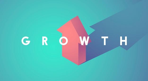 Miglioramento della crescita aumentare l'icona freccia su Vettore gratuito