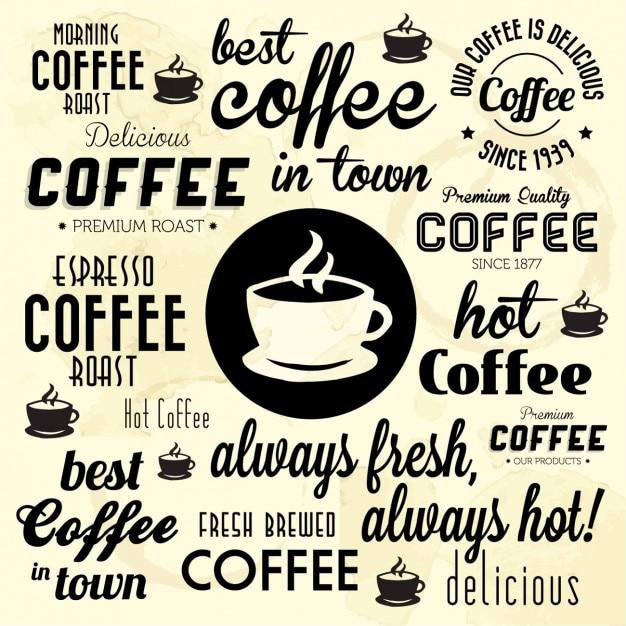 Migliore caffè in città sfondo Vettore gratuito