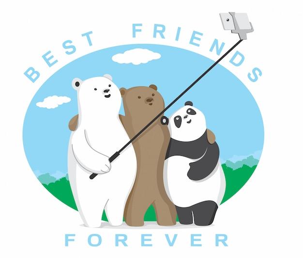 Migliori amici per sempre Vettore Premium