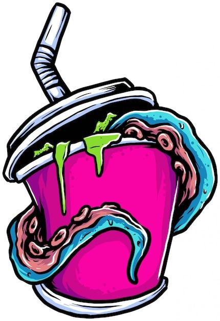 Milkshake di veleno Vettore Premium