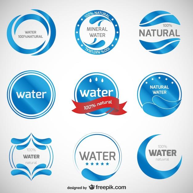 Mineral loghi acqua raccolta Vettore gratuito