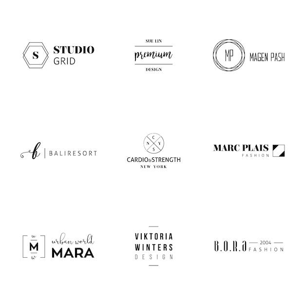 Minimalista logo insieme di modelli Vettore gratuito