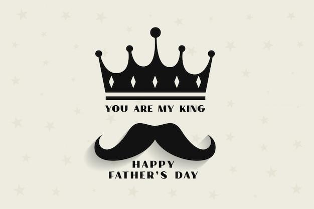 Mio padre, il mio re concetto per la festa del papà Vettore gratuito