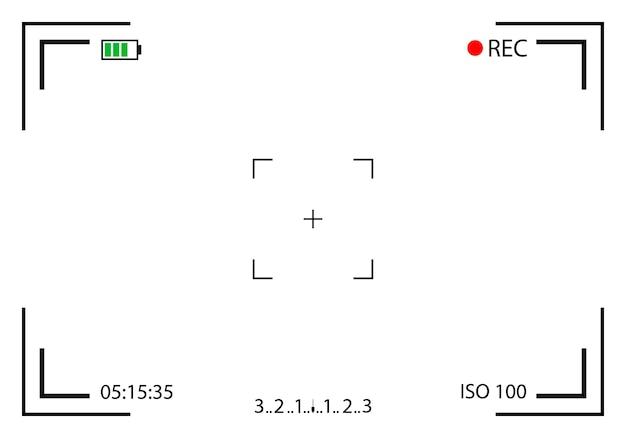 Mirino della fotocamera, senza effetti, dslr. Vettore Premium