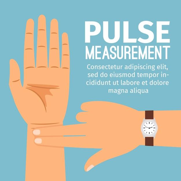 Misurazione del polso Vettore Premium