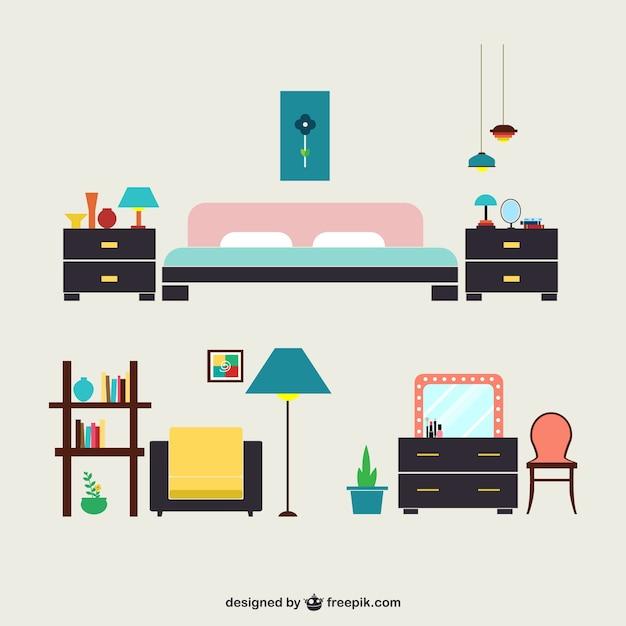Mobili camera da letto Vettore gratuito