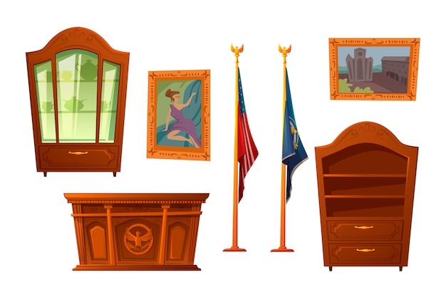 Mobili per il presidente del posto di lavoro negli stati uniti Vettore gratuito