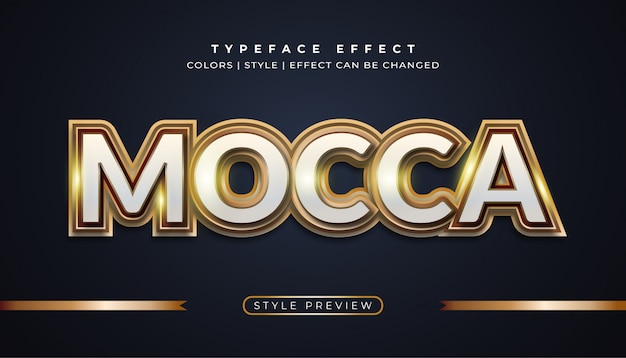 Mocca gold text effects Vettore Premium