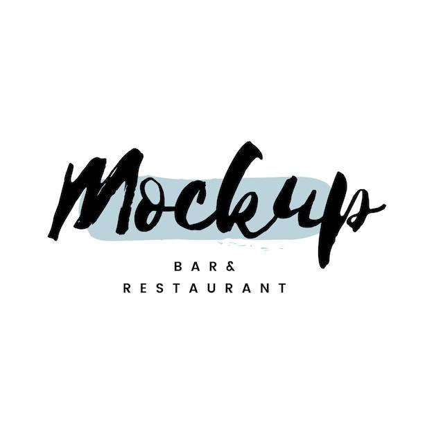 Mockup bar e logo del ristorante Vettore gratuito