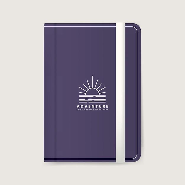 Mockup di design della copertina del diario premium Vettore gratuito