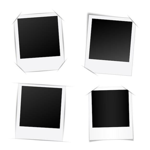 Mockup di modello di cornice fotografica creativa. Vettore Premium