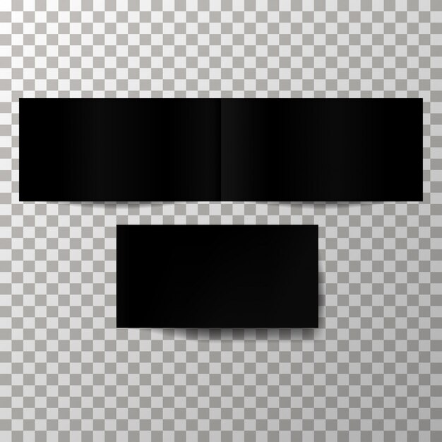 Mockup di vettore copertina nera vuota. Vettore Premium