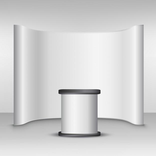 Mockup parete popup Vettore gratuito