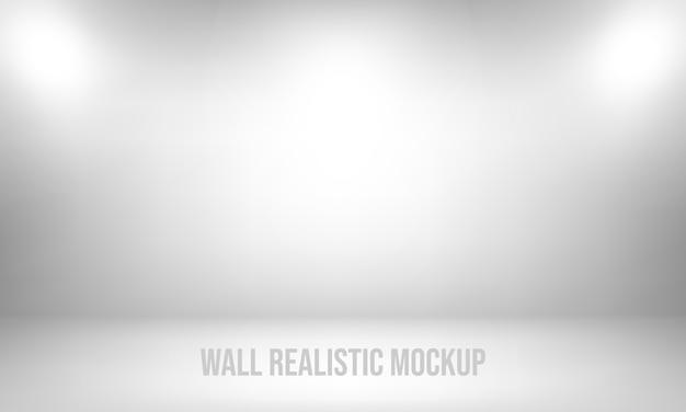 Mockup realistico di muro Vettore Premium