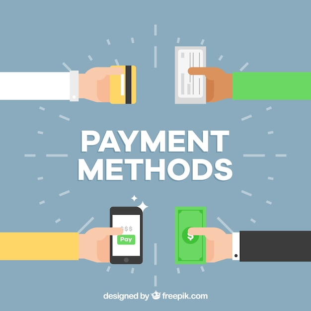 Modalità di pagamento disegno di sfondo Vettore gratuito