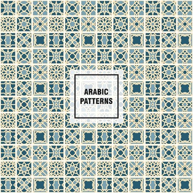 Modelli arabi Vettore gratuito