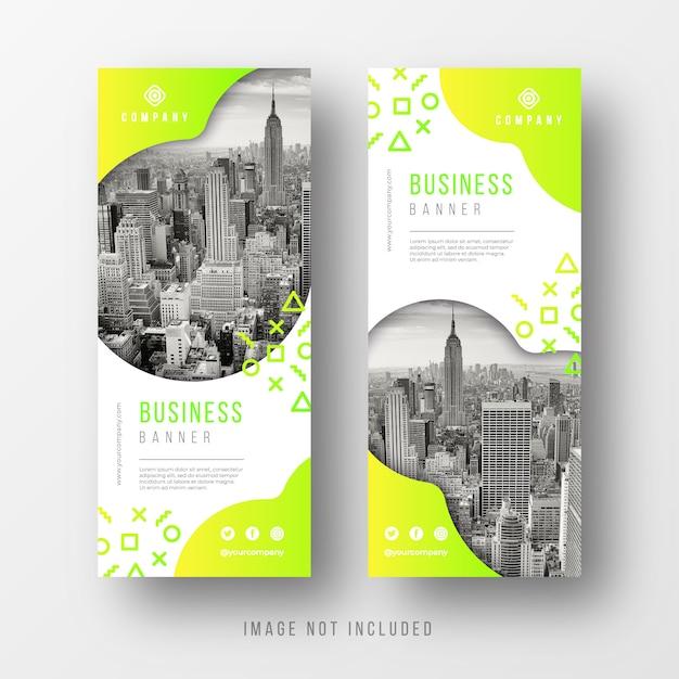 Modelli di banner business astratto con forme arrotondate Vettore gratuito