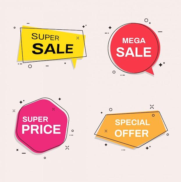 Modelli di banner di vendita. super vendita, offerta speciale. Vettore Premium