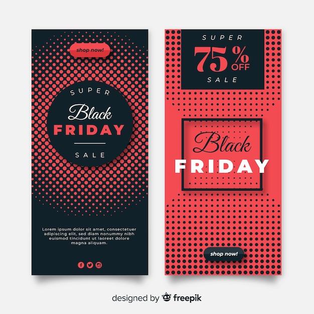 Modelli di banner di vendita venerdì nero Vettore gratuito
