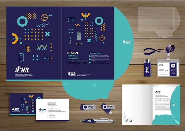 Modelli di branding aziendale Vettore Premium