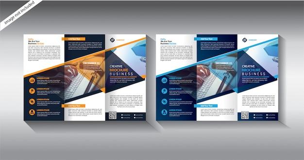Modelli di brochure a tre ante Vettore Premium