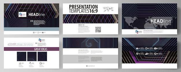 Modelli di business in formato hd per diapositive di presentazione. Vettore Premium