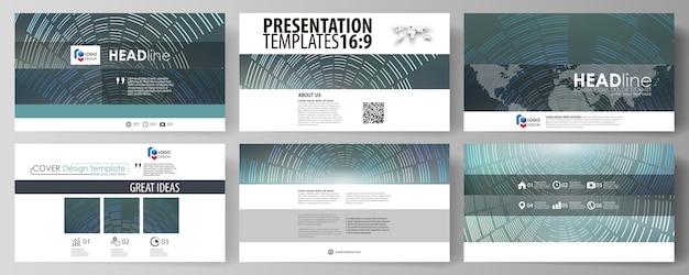 Modelli di business in formato hd per diapositive di presentazione Vettore Premium