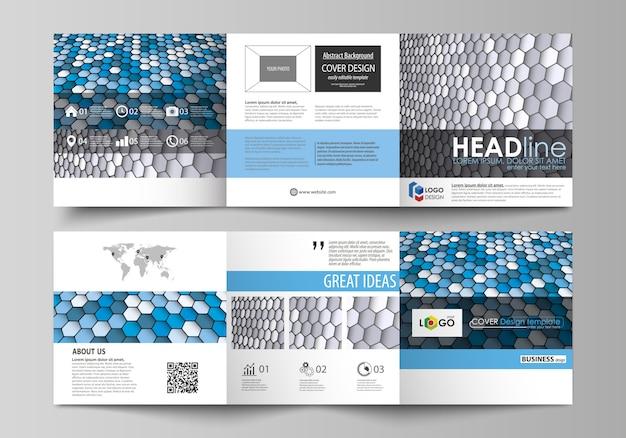 Modelli di business per brochure quadrangolari. Vettore Premium