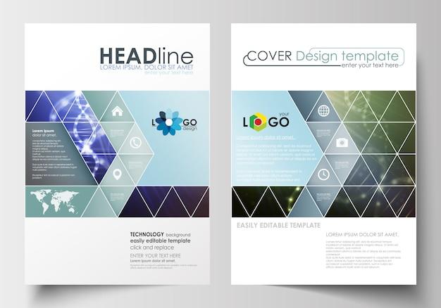 Modelli di business per brochure, riviste, volantini, opuscoli o report. Vettore Premium