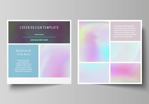 Modelli di business per la brochure di design quadrato Vettore Premium