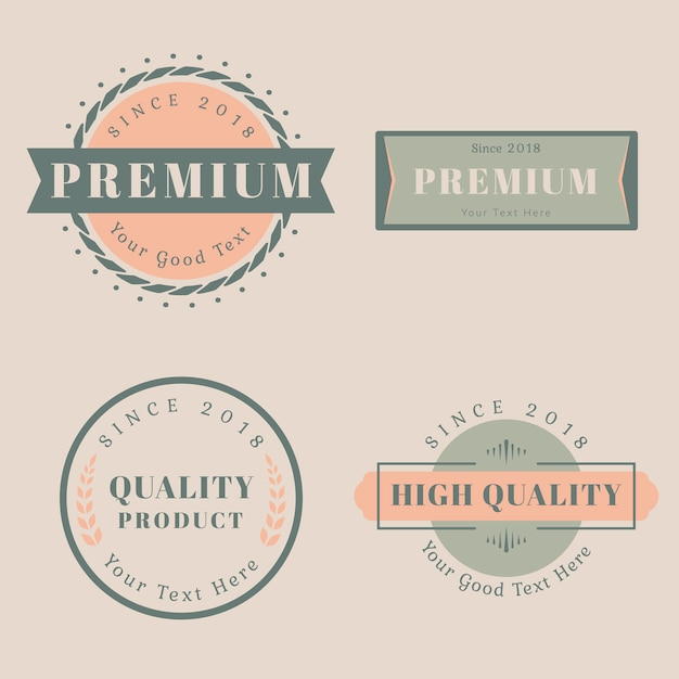 Modelli di design del logo Vettore gratuito