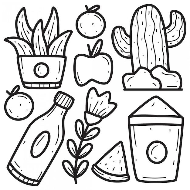 Modelli di design doodle astratto disegnato a mano Vettore Premium