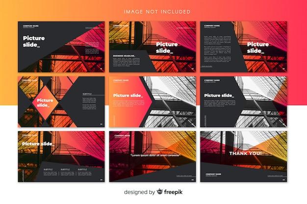 Modelli di diapositiva Vettore gratuito