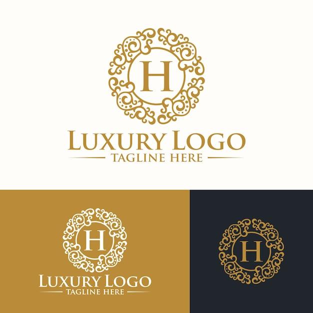 Modelli di logo di lusso Vettore Premium