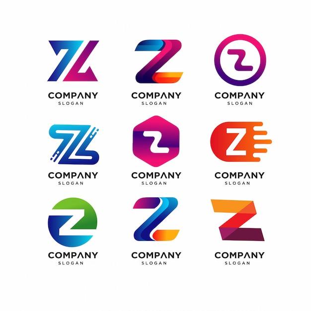 Modelli di logo moderno lettera z. Vettore Premium