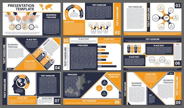 Modelli di presentazione aziendale. Vettore Premium