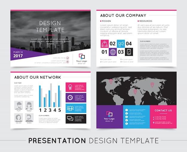 Modelli di presentazione dell'azienda Vettore gratuito