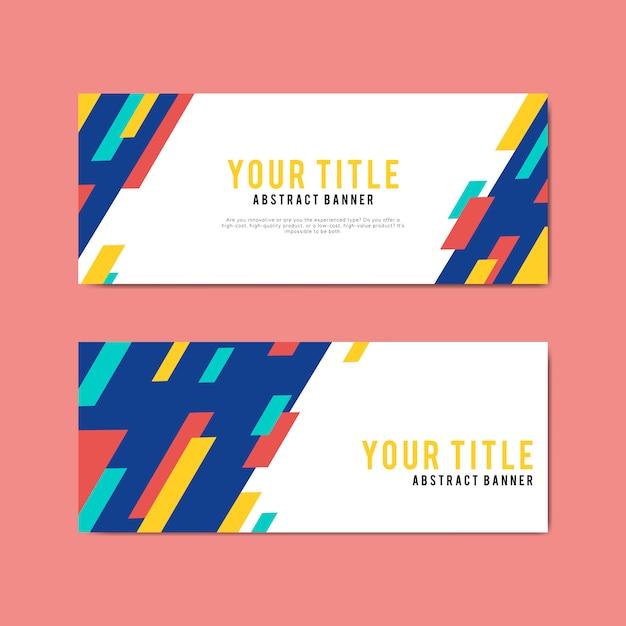 Modelli di progettazione di banner colorati e astratti Vettore gratuito
