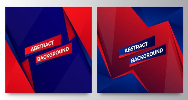 Modelli di sfondo astratto moderno blu rosso elegante Vettore Premium