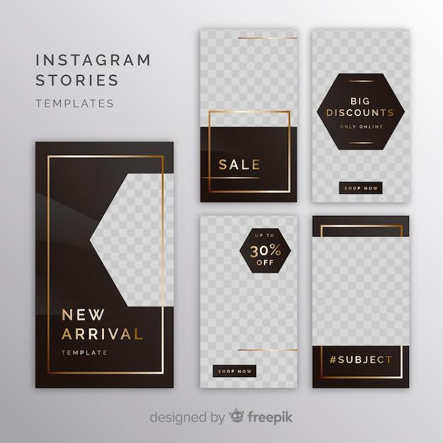 Modelli di storie di instagram con cornice vuota Vettore gratuito