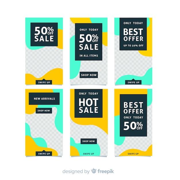 Modelli di storie di instagram di vendita Vettore gratuito