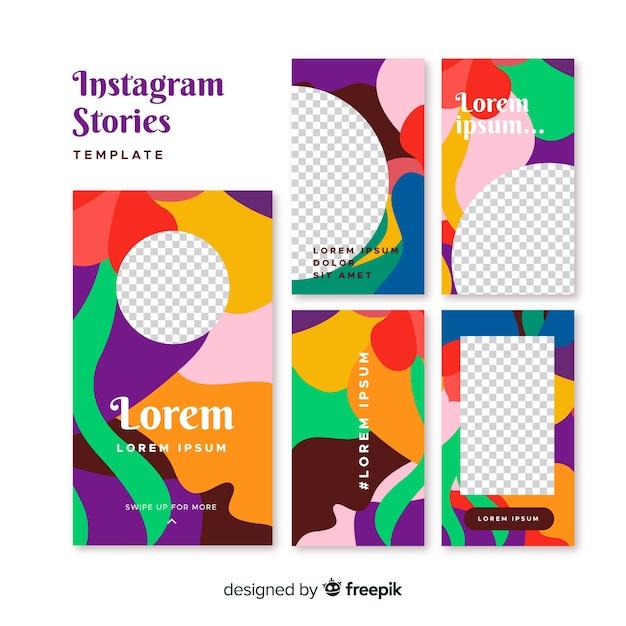 Modelli di storie di instagram Vettore gratuito