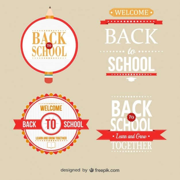 Modelli distintivo scuola libera Vettore gratuito
