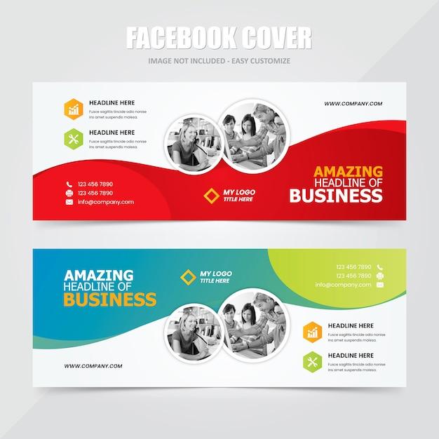 Modelli pubblicità - social banner copertina facebook Vettore Premium