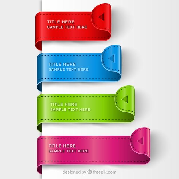 Modelli segnalibro colorful Vettore gratuito