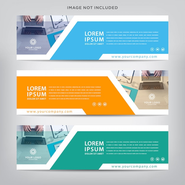 Modello astratto banner web Vettore Premium