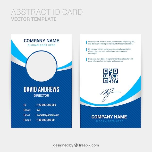 Modello astratto carta d'identità con design piatto Vettore gratuito